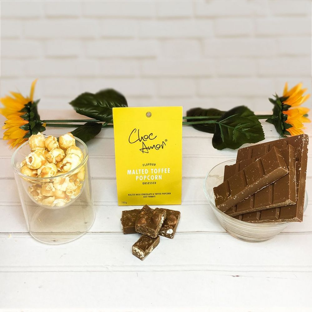 Choc Amor's Malted Chocolate & Toffee Popcorn (BB) - islamic gift